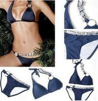 Hot Sale New 2014 Victoria Diamond Bikini Set For Women, Sexy Brazilian Crystal Swimwear monokini Swimsuit SML