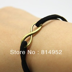 Wholesales 50pcs Antique Style Bronze Tone 8 Infinity Sign Necklace Pendants Charms 23mmx8mm(China (Mainland))