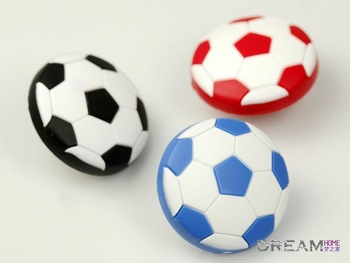 40mm 3 colors Football Soccer Drawer Pulls/ drawer knob //Kids Furniture Handles Children Cartoon Carbinet Knobs