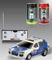 Free Shipping New 2pcs/lot Mini Remote Control RC car+rc car+toy coke can mini car+aluminium CAN PACKAGE Kid's Christmas Gift