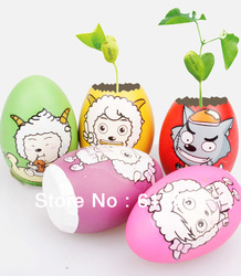 Cute Christmas Gift For Friends Cartoon Magic Egg Magic Bean Plant Can Grow Word Message(China (Mainland))