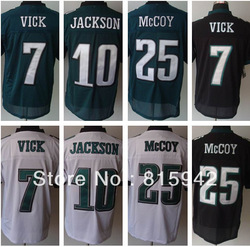 Discount all players in stock #25 LeSean McCoy etc black green white eagles elite american football jerseys 2012 cheap(China (Mainland))
