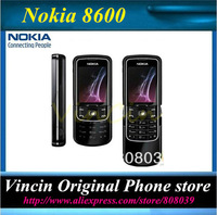 Unlocked Original Nokia 8600 Luna cell phone support russian keyboard&language Refurbished