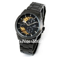 2013 Watches for Men! Rare Timepiece Titanium Black Dial Automatic Wrist Watch,Men's Skeleton Mechanical Captain Watches