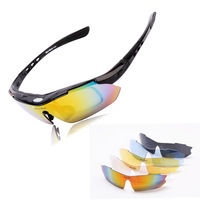 WOLFBIKE Glasses Cycling Goggles Sunglasses glasses Sports Goggle Shooting Bicycle Motorcycle Sun Glasses Cycle Bike Glass 5 Len