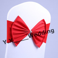 Poly Bow Spandex Chair Band In Red Color
