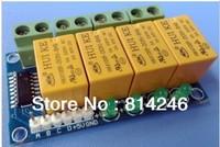 Free shipping,, 5pcs  4 Road 5V relay module relay board driver board