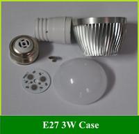 Free shipping 10PCS DIY E27 Screw LED Bubble Ball light Bulb \ 3W Aluminum Case Cover Shell Suite Parts Accessories