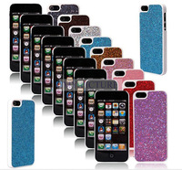 100 pcs bling glitter shiney sparkle Hard Skin Back Case Cover Protector Guard for Apple iPhone 5 5g free shipping 10pcs / lot