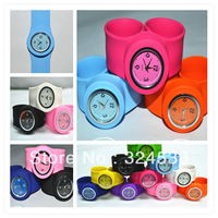 UPS/DHL Free Shipping,200 Pcs/Lot,2012 Hot Sales Newest Silicone Slap Watch For Adults and Kids Sizes