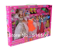 Holiday Sales Free Shipping New 4688C style of fashion dolls and doll clothes puzzle baby dolls,Girl birthday gift Gift Box Toys