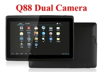 With two free gifts! Wholesale Q88 Dual camera android 4.0 7'' tablet pc Allwinner A13 1.2GHz 4GB/8GB  Wifi