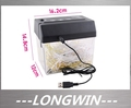 Free shipping Mini USB Powered Desktop Cut Paper Shredder Letter Opener(China (Mainland))