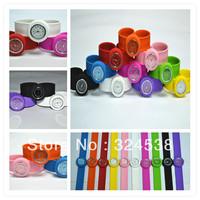 100pcs/lot silicone cartoon slap watch, animal jelly watch boy girl child kids fashion silicon watch