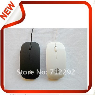 Free Shipping USB Thin Wired Scroll Wheel Optical Mouse Mice For Dell HP Apple Sony Notebook(China (Mainland))
