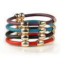 jewelry beads genuine leather bracelet gift for her,BR-1394