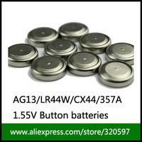 free shipping  200PCS/LOT 1.5v AG13 Button battery Cell Batteries AG13 /LR 44 /LR1154 /A76/ SR44