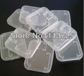 Factory direct 100PCS X New White Plastic  Box For TF Micro SD Memory Card Free shipping+tracking number
