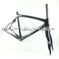 FULLFUN Carbon Frame 700C 50mm/52mm/54mm/56mm/58mm Road Bike Full Carbon Frame 3K Glossy 31.6mm Tapered 1-1/8'' 1-1/4'' BB30/BSA