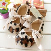 Retails Leopard toddler shoes Baby Prewalker Infant Cack Kids shoes First Walkers Cartoon Footwear soft Socks