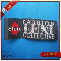 (WL-171)Custom Polyester Garment woven labels