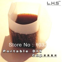 DIY portable food cup folding cup