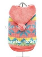 Free Shipping!  Pink Hoodies dog sweater pet sweater ,Wholesale 12 pcs 5 size mixed