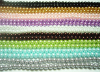 EMS Free Shipping 50pcs/Lot Loose Lampwork Glass Pearl Round Beads For DIY Craft Jewelry 6mm Mix colors MP0