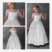 Free Shipping Cute Ball Gown Spaghetti Straps Bow Sash Formal Flower Girl Dresses Special Occasion Dresses