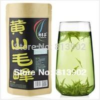 Do promotion!! Free Shipping 2014 Early Spring Green Tea Organic Huangshan Maofeng 32g Fresh Tea,Yellow Mountain Fur Peak