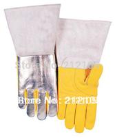 Work Gloves Leather Welder Gloves Cow Split Aluminized Leather TIG MIG Glove Leather Welding Gloves