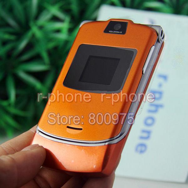 Refurbished Oriainal Unlocked Motorola RAZR V3 Mobile Phone English Arabic Russian Keyboard Offer(China (Mainland))