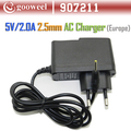 On sale Freeshipping 5V 2A DC 2.5mm Europe Plug Converter Charger Power Supply Adapter for Sanei Flytouch3/7 Tablet PC(China (Mainland))