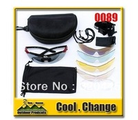 2012 New  0089 Cycling Bicycle Bike Outdoor Sports Sun Glasses Eyewear Goggle Sunglasses 5 color lens Free Shipping