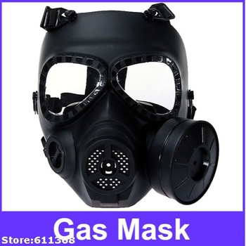 Black Durable MO4 Nuclear War Crisis Series Protector Gas Mask for Airsoft (Black)