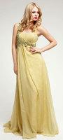 2012 Hot Sale! Sex Pleat Appliques Floor-length Evening Dress