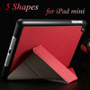 5 Shape pu leather case for iPad Mini New Smart Cover Stand Thin Slim Red Pink White Black Blue Green Orange, Free stylus !(China (Mainland))
