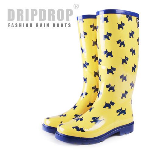 women's rain boots yellow
