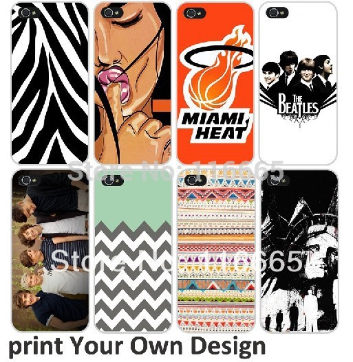 MOQ 100pcs/lot mix 10 custom design hard plastic case for iphone 5 5s 4s 4 free DHL shipping DIY OEN printing text logo(China (Mainland))