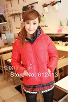 new arrival hot winter women warm coat korean polka dot women outwear free size