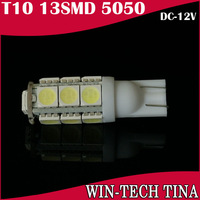 10pcs/lot T10 13SMD 5050 Car 194 168 192 W5W LED Light Auto Bulbs Wedge Interior Light Freeshipping