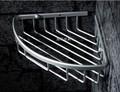 Free shipping Aluminum triangle shower caddy corner storage shelf bathroom accessories wire basket mounted by screw anti rust