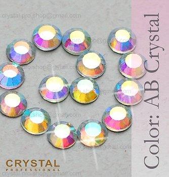 144 pcs ss16 AB Crystal Clear 4mm bulk 16ss glass hot-fix iron on design diy Loose bead stone 1 gross FLATBACK hotfix rhinestone
