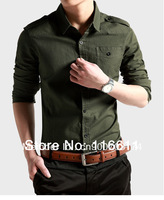2014 New Arrival Rushed Full Casual Men The News Men's Shirts Cotton Long Sleeve Leisure Fashion Style Size Xxl,xxxl,4xl (c0003)