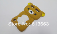 Wholesale 100pcs/lot New Arrive Cute Rilakuma Bear Silicone Soft Rubber Back Shell Cover Skin Case For ipod touch 5