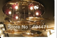 Hot selling + L 1.2M W 0.4M H 1.8M Flying fash glass pendant lamp ceiling light +Oval ceiling plate  aslo for wholesale