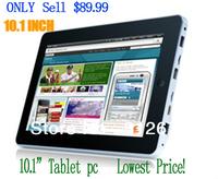 "Infotmic 10.1"" Tablet PC CPU 1.0~1.5GHZ RAM 512MB HDD 4G/8G(Option) Support HDMI Wifi External 3G MID High Video 1080P"