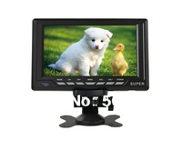 Free shipping + Overhead Monitor HFK-701C 7.8 Color Wide LCD Screen Digital Car Monitor (Black)
