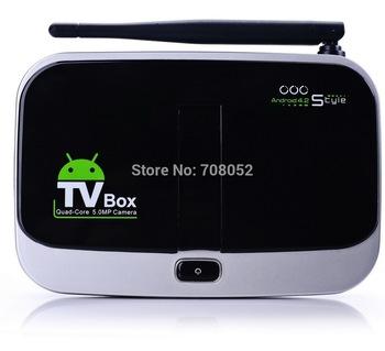 Quad Core Andriod TV Box CS918S 1G+8G Android 4.2.2 OTT TV BOX  5.0m Camera Smart TV Box Dropshipping