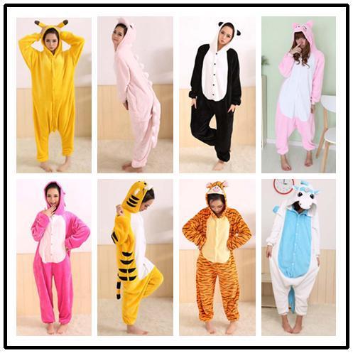 Free shipping Fahion hot selling Autumn and winter cute cartoon animal panda sleepwear one piece lovers' lounge pajamas(China (Mainland))